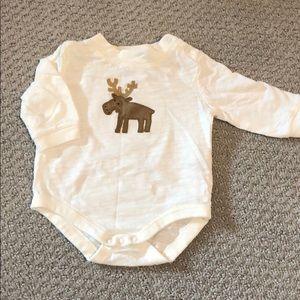 Baby boy long sleeve onesie. 0-3 months